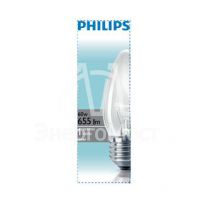 Лампа накаливания Stan 60Вт E27 230В B35 CL 1CT/10X10F Philips 921501544237